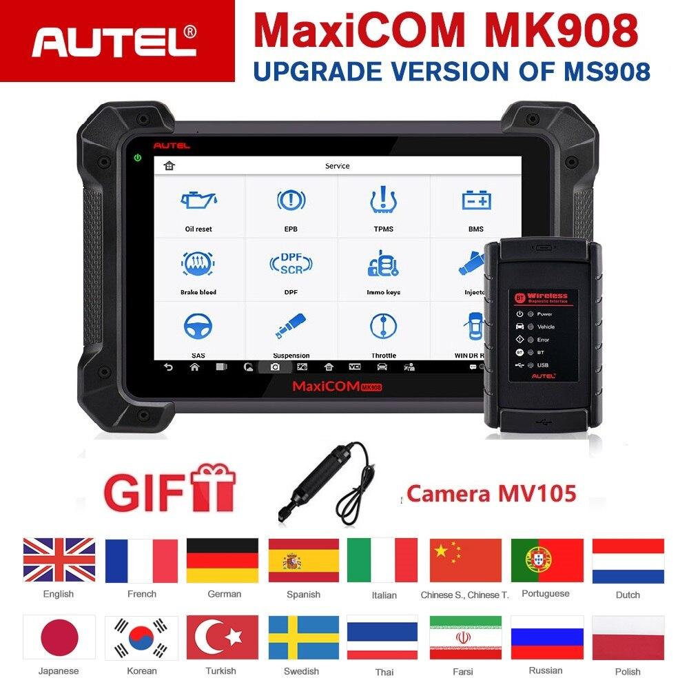 Scanner de Diagnostic automatique Autel MaxiCOM MK908 outil de codage ECU complet système complet avancé