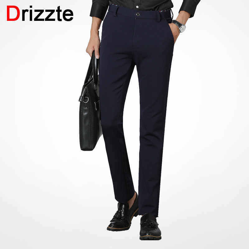6e3a187a9ff Drizzte Brand Men Pants Soft Pants Casual Dress Trousers for Business  Office White Collar Wearing Pants