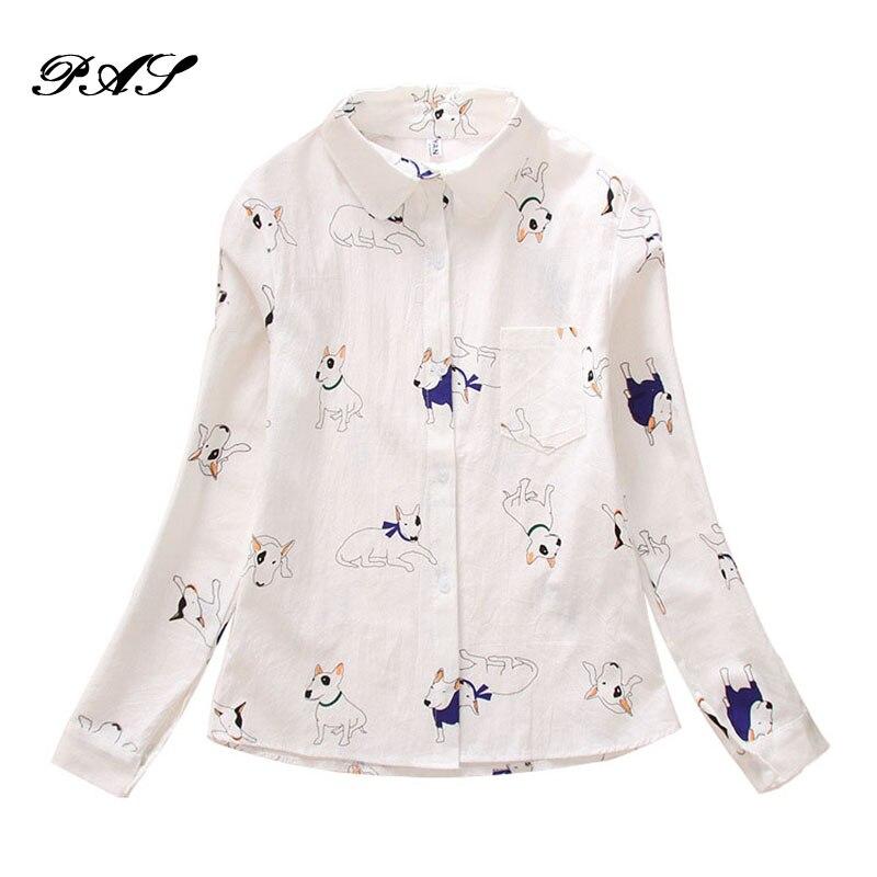54a6bfff0fc Φ ΦМода 2017 г. милые Мышь мультфильм блузка женская белая рубашка ...