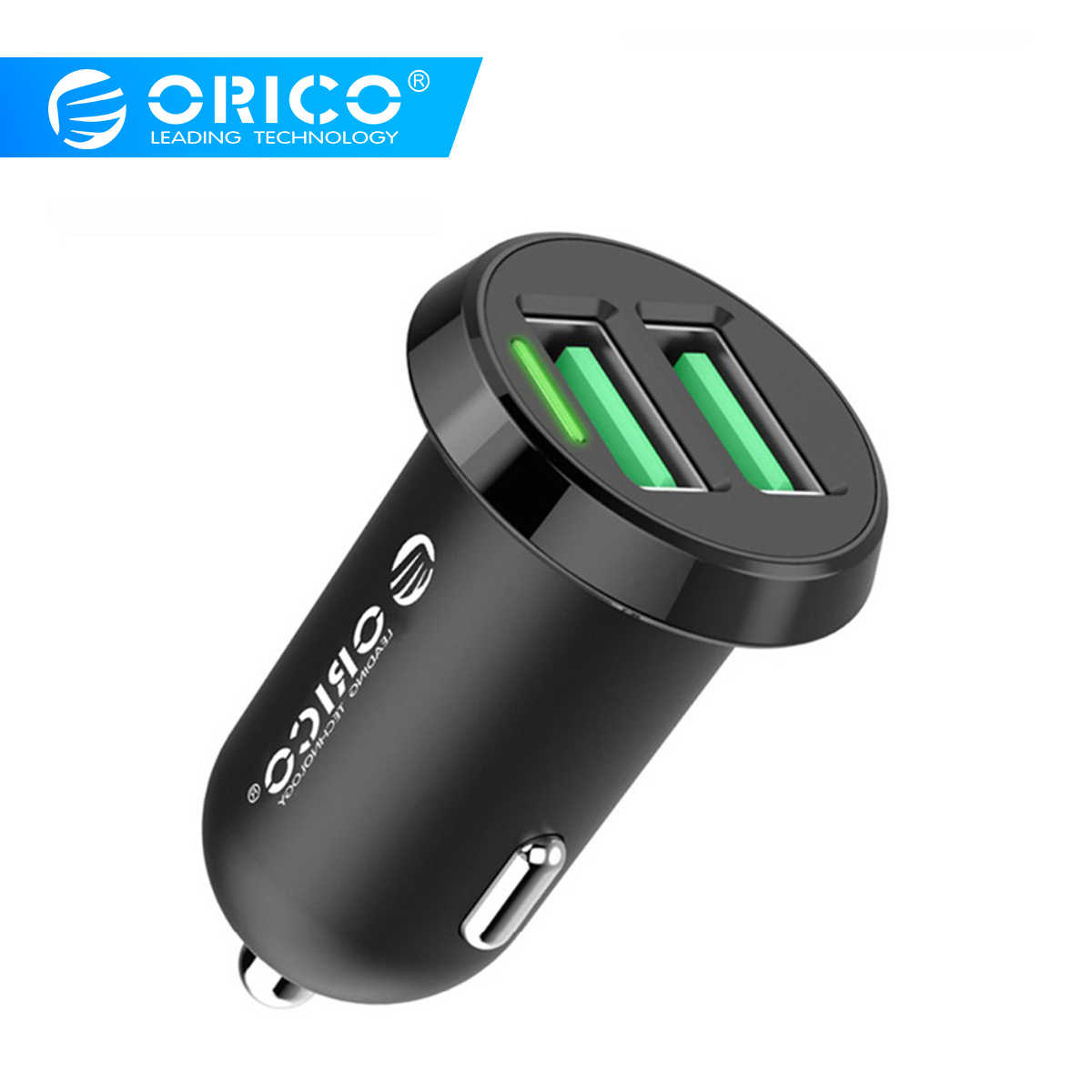 ORICO Dual USB Car Charger 2.4A Intelligent Output 17W Travel Charger for Mobile Phone Cigar Lighter DC 12-24V
