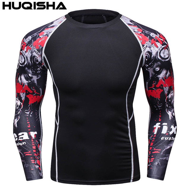 889fed10ee0a7 2017 hombres de marca Marvel Superhero camiseta Punisher manga larga Camisas  fitness Superman 3D Camisas compresión