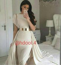 2017 Sexy Dubai Saudi-arabien Abendkleid Abendkleid Meerjungfrau Scoop Satin Gürtel Neue Ankunft Preiswerte Lange Abschlussball-kleider Party kleid