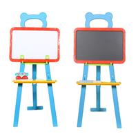 3in1 Dei Capretti Dei Bambini di Apprendimento Cavalletto Stand Magnetico Bianco Bordo Nero Lavagna Lavagna Lavagna con Alfabeto Numero di Gesso