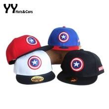 Primavera Verano Snapback gorras niños gorra de béisbol Marvel los  Vengadores Capitán América ajustable hueso Snapback 54407b86d4f