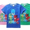 Супермен человек-паук дети супергерой мультфильм Троллей майка мальчиков и девочек футболки POLI ROBOCAR Мультфильм Дети летние Футболки Дети