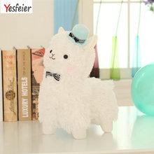 35cm Alpacasso Mud Horse Topper Hat Alpaca Plush Toy Lovely Stuffed Animal Sheep Kids Doll Birthday Gift