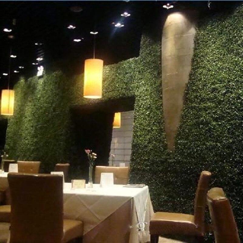 10pcs 25 X 25 cm Artificial Grass plastic boxwood mat topiary tree Milan Grass for garden,home ,Store,wedding decoration
