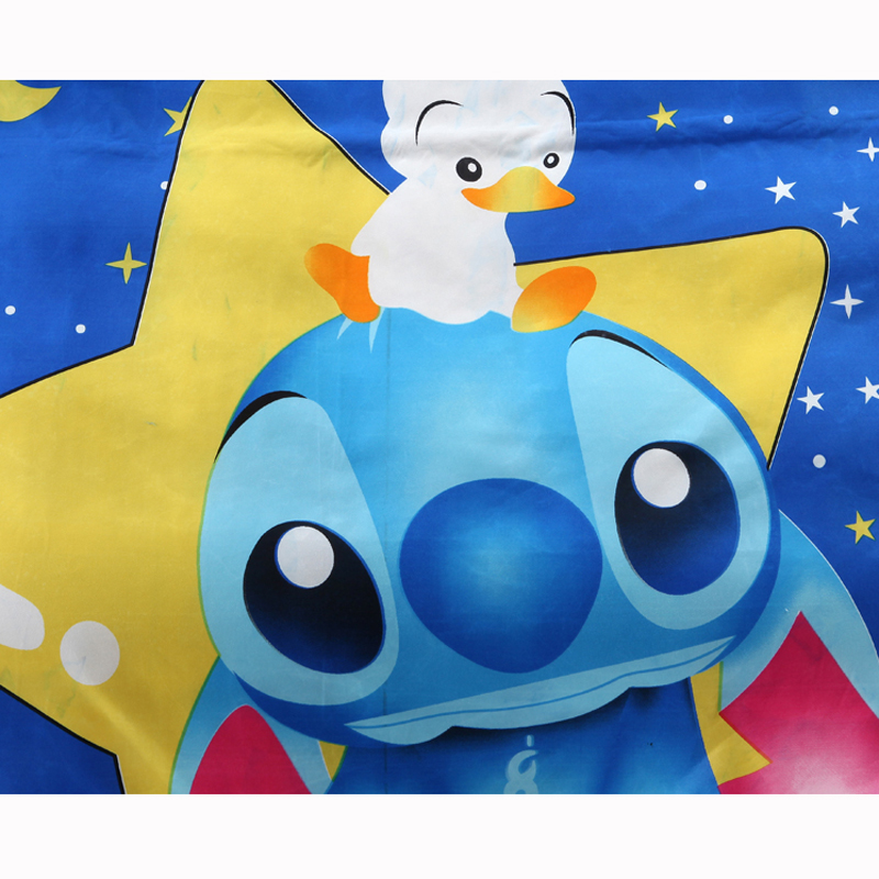 Disney Lilo and Stitch Bedding Set 3/4 Pieces Blue Comforter Cover 3D Children Bedroom Decor for 1.5m Bed 3