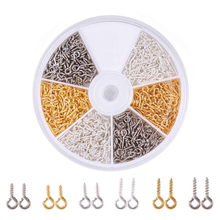 1 Box Iron Screw Eye Pin Bail Pinch Bails Peg Half Drilled Beads Pendants Charm Clasps Accessories