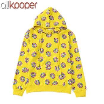 ALLKPOPER KPOP GOT7 Hoodies Işareti Sadece Sağ Donut Hoodie Jung Kook Tişörtü Exo Hoodie Kai