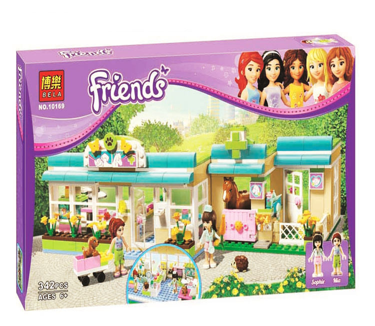 High Quality Girls Friends Heartlake Pet Hospital Assemble Educational Blocks Toys for Girls Compatible with Lego Lepin 342pcs heartlake pet hospital bela building blocks toy set friends lepine educational bricks toys for girls compatible with 3188