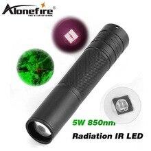 Alonefire ir01 ir led 손전등 토치 장거리 적외선 10 w ir 850nm led 사냥 빛 밤 비전 토치 손전등