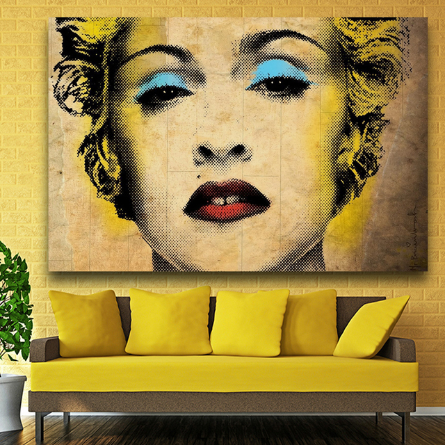 Andy Warhol madonna pop art print Wall Painting picture Home Marilyn ...