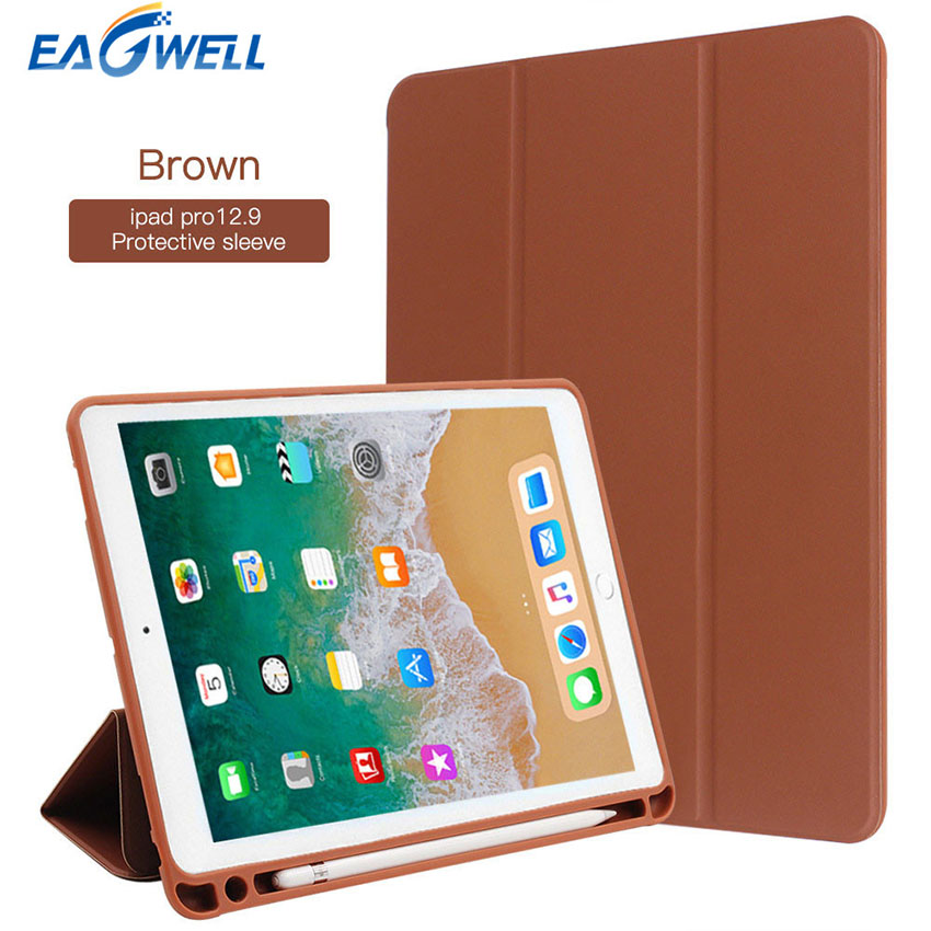 PU Leather Case for Apple iPad Pro 10.5 Flip Stand Smart Cover with Pencil Holder Slot Tablet Protective Case for iPad Pro 12.9 for apple ipad pro 12 9 inch pu leather stand cover flip back case luxury business style smart tablet cover for ipad pro