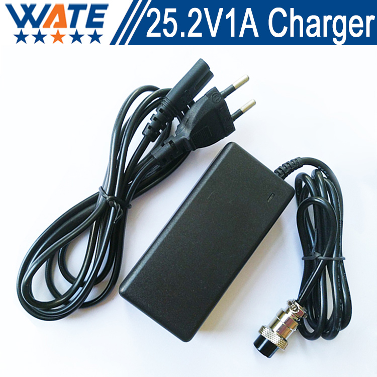 25.2 V 1A Chargeur 6 S 22 V li-ion chargeur de batterie 25.2 V au lithium polymère batterie pack chargeur Livraison gratuite