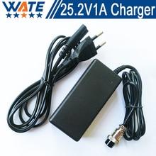 25.2V1A Зарядное Устройство 6 S 22 В литий-ионный аккумулятор зарядное устройство 25.2 В литий-полимерный аккумулятор зарядное устройство Бесплатная доставка