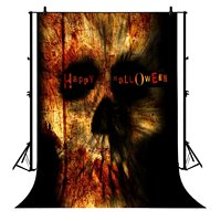 5x7ft Halloween Spooky Skull Blood Polyester Photo Background Portrait Backdrop