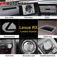 KJAUTOMAX For LEXUS RX200 450H 270 Crystal Decoration Engine Start Button Decoration Logo Instrument Outle Sticker Clock