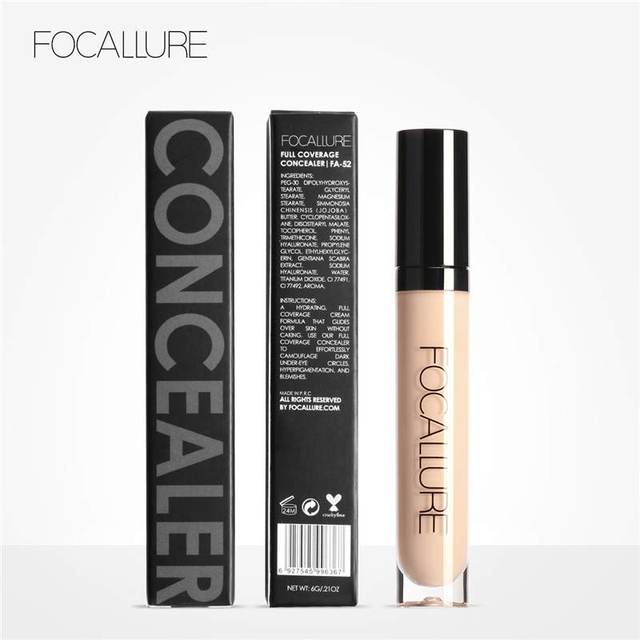 Focallure 7 Colors New Arrivals Cover Primer Concealer Face Eyes Foundation Concealer Waterproof Cream Makeup 5