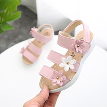 2018New estilo Sandalia de la muchacha del verano niños playa sandalia  flores princesa Sandal moda niños 1af3499ac6bf