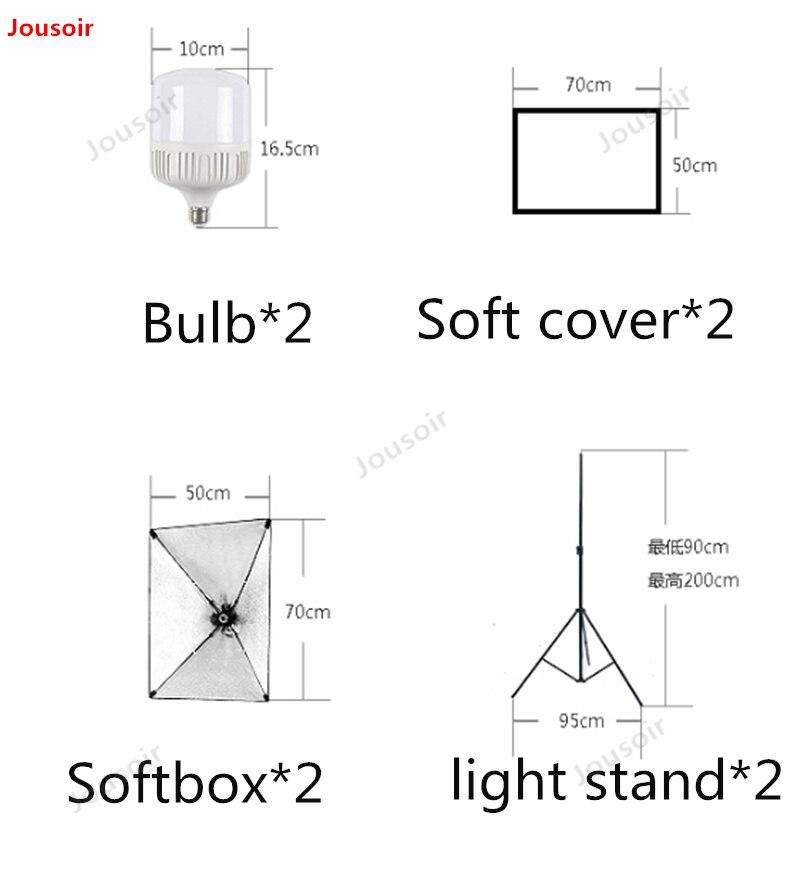 45 watt led kleine leven tafel dubbele lamp set Eenvoudige studio vulling licht foto schieten zacht Licht Doos CD50 T03 - 2