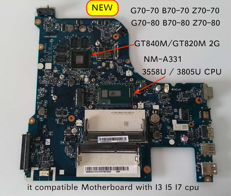 Working Perfectly AILG NM-A331 For Lenovo G70-70 G70-80 Z70-70 Z70-80 B70-70 B70-80 Notebook Motherboard
