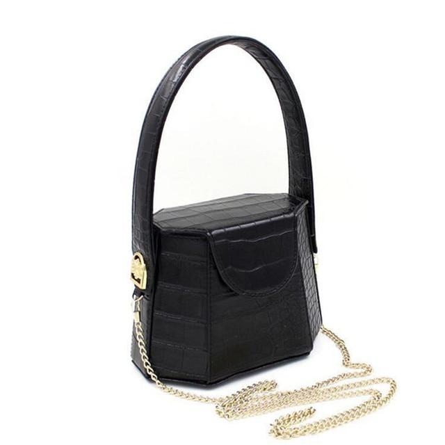 2017 Новый прибыл женщины Крокодил шаблон роскошь сумки женские цепи сумки дизайнер Ведро Сумка Женская Crossbody Сумка