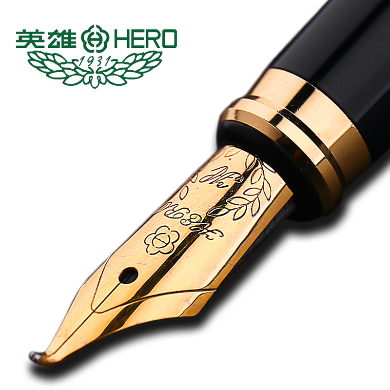 Authentic standard type Hero frosted 6006 metal calligraphy pen art fountain pen iraurita ink pen 0.5mm /1.0mm gift box set italic nib art fountain pen arabic calligraphy black pen line width 1 1mm to 3 0mm
