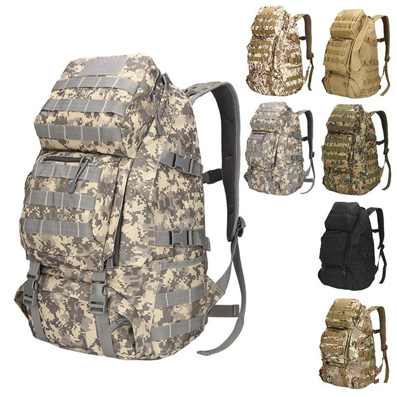 Plein air haute capacité randonnée sac à dos MOLLE alpinisme militaire Camo sacs 800D Camping toile voyage hommes sac à dos