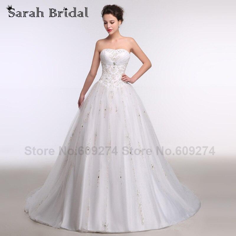 A - ligne prix en Euros main strass avec blanc chérie robe de noiva broderie robe de mariée robes de mariée WG016