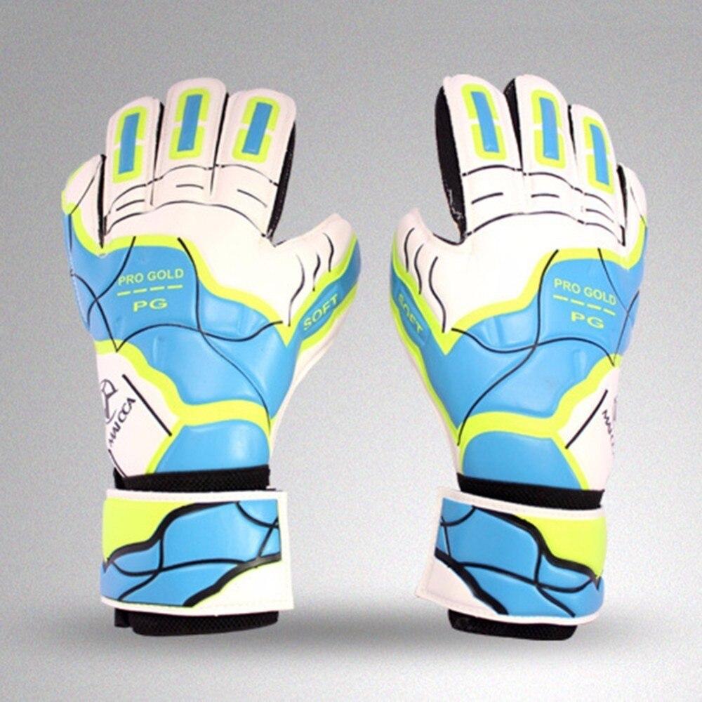 Hot Sale 2018 Soccer Men Professional Goalkeeper Gloves Soft Slip Strong Protection Goal Keeper Gloves Gloves Sports Safe цена