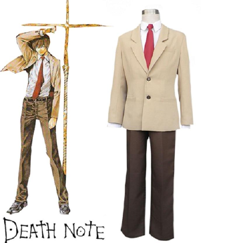 High-Q Unisex Anime Cosplay Death Note Yagami Light Killer Anime Cosplay Costume Uniform Sets