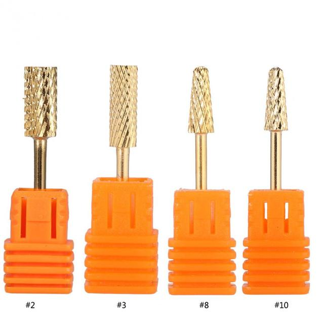 4 Types Electric Nail Art Drill Bit Carbide Nail File Drill Manicure ...