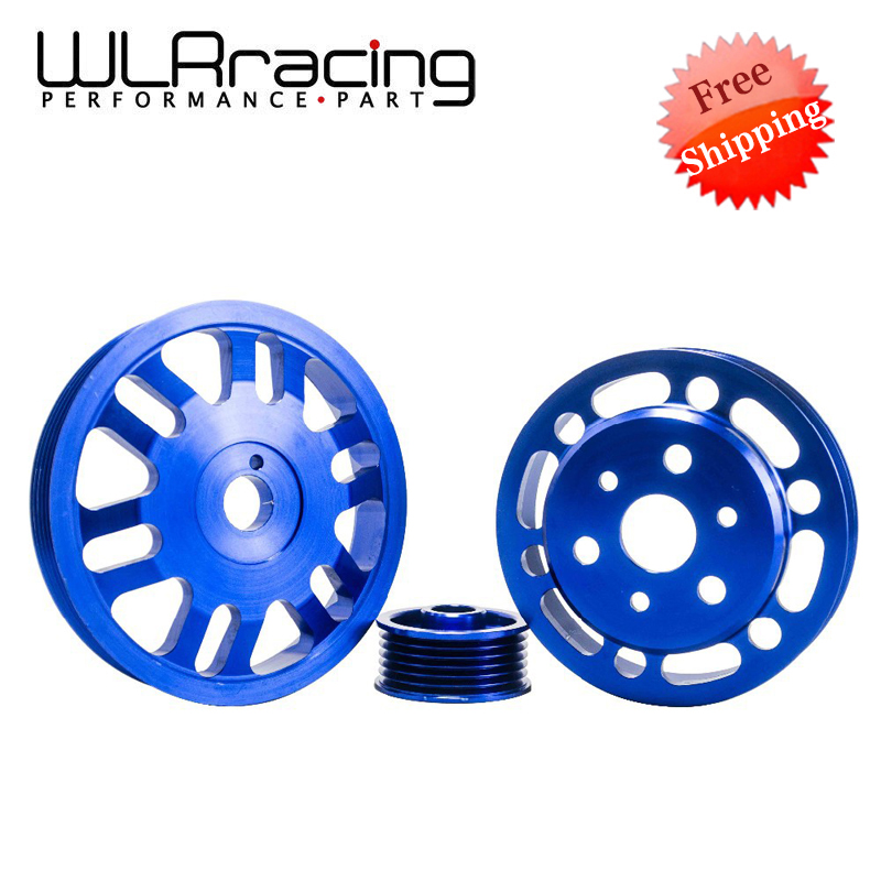 WLR RACING - FREE SHIPPING Crank Alternator Water pump Pulley for Toyota GT86 Scion FR-S Subaru BRZ 2012 + Blue WLR6858