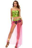 6pc Role Play Women Party Halloween Costumes Star Wars Cosplay Sexy Princess Leia Slave Costume Top
