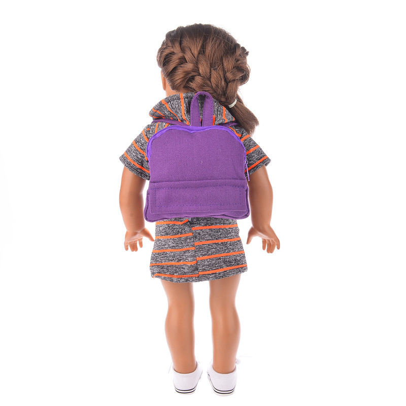 12 kinds of colors to choose 1pcs bagfor the 18 inch American girl doll, our generation doll clothes