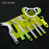 XMT HOME New watermelon slicer knives multifunction melon apple round knife watermelon slicer set 9pcs