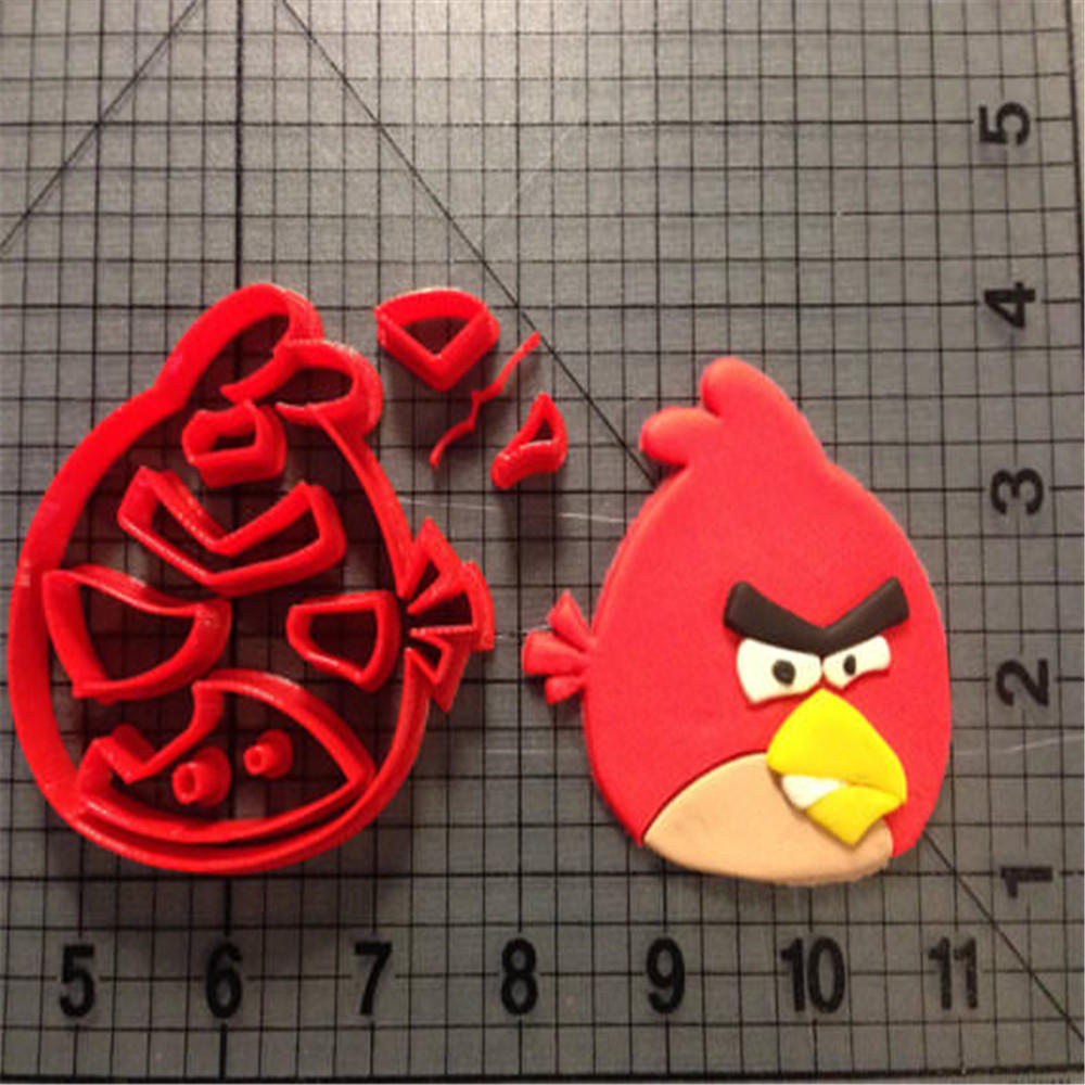 Popular Game Animal Bird Cookie Cutter Custom Made 3D Printed Fondant Cupcake Top Cutter Set Cake Molds Kitchen Accessories in Cookie Tools from Home Garden