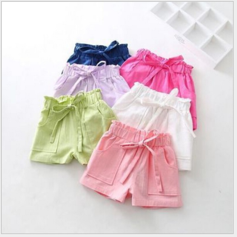 New Arrival Candy Color Baby Girls Shorts Cotton Mix Children Shorts Kids Shorts For Girls Clothes Toddler Girl Clothing baby girls shorts jeans hot design summer cotton children s shorts kids denim shorts for girls clothes 2 16 years girl clothing