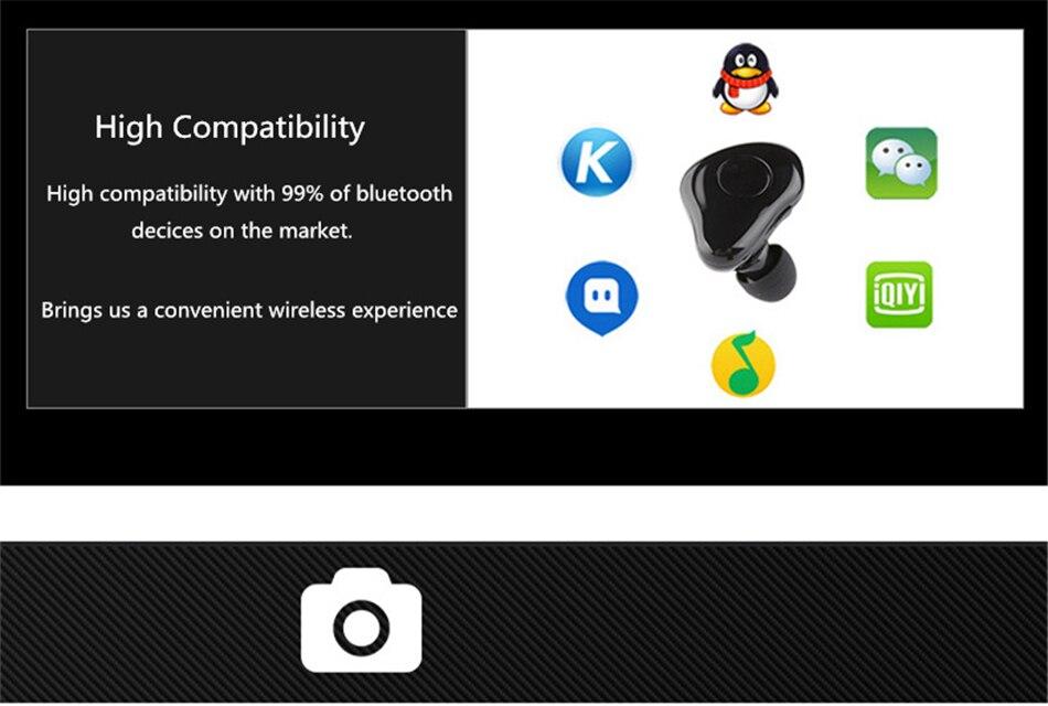 Super Mini Bluetooth Earphone with MIC 3D Stereo Sound In-ear Earbuds Wireless Earphone Car Earpiece Free Answer Control