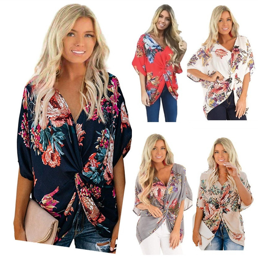 plus size woman white blouse fashion 2019 korean top casual floral batwing sleeve streetwear womens tops and blouses