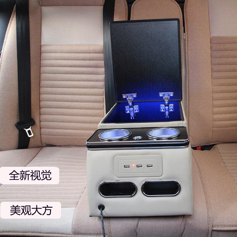 Pour TOYOTA Highlander RAV-4 COROLLA YARiS L CAMRY REIZ LAND CRUISER PRADO EZ Prius arrière main courante boîte chargeur de téléphone portable USB
