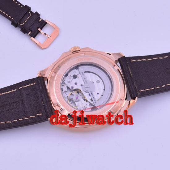 Карнавал мужские бизнес Тритий Светящиеся автоматические механические часы наручные часы золотой ободок белый циферблат - 6