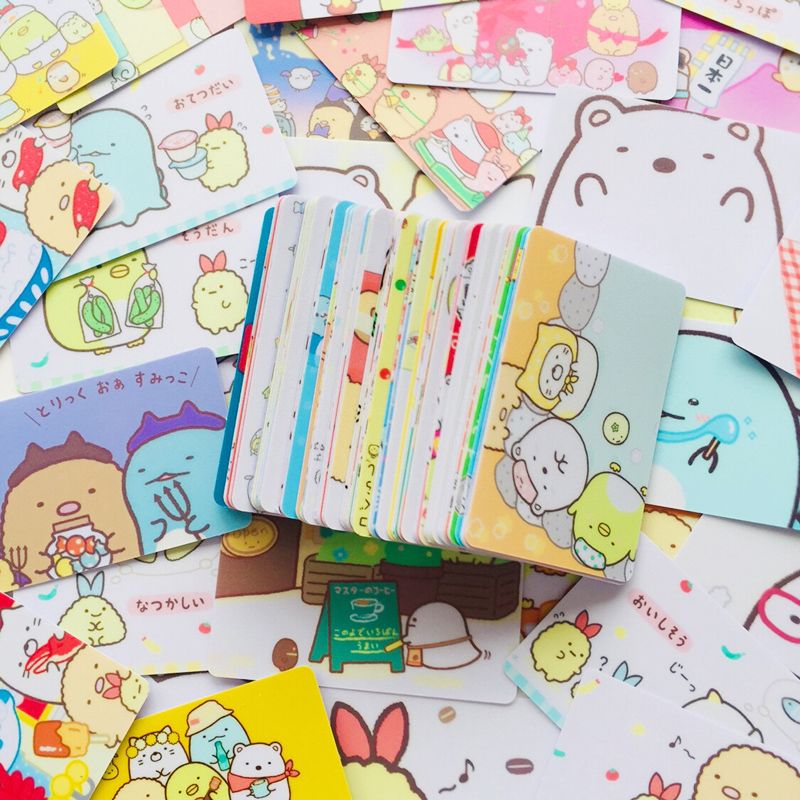 5X Cute Sumikko Gurashi Scrub Decorative Sticker For Bank Bus Card Dairy Album Phone Computer Decor