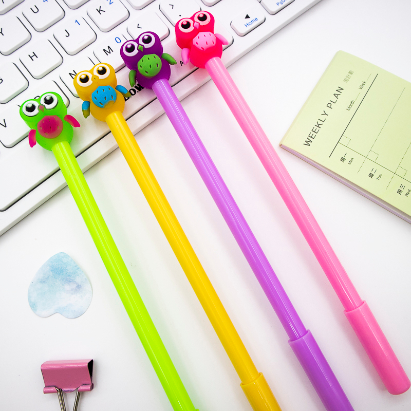 Jelly Owl Gel Pen DIY Office Stationery School Supplies Smooth Writing Black And Blue Ink Pen 0.5mm 1PCS
