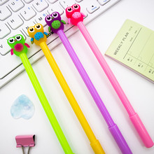 Jelly Owl Gel Pen DIY Office Stationery School Supplies Smooth Writing Black And Blue Ink Pen 0.5mm 1PCS(China)