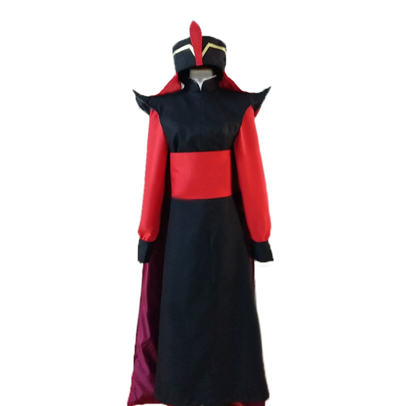 Customized Adult Men's Aladdin Jafar Villain Costume Outfit Aladdin Cosplay Costume for Halloween