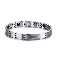 Men Women Jewelry Healing Magnetic Bangle Balance Health Bracelet Silver Titanium Bracelets Special Design For Male