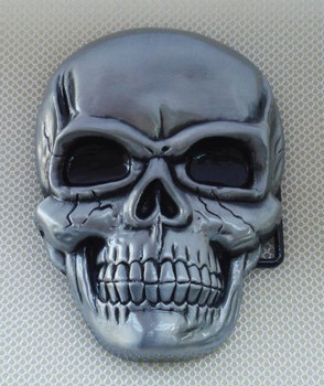 Gnash Skull Belt Buckle suitable for 4cm wideth belt with continous stock image