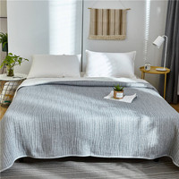 2019 verão algodão ar condicionado colcha edredon  cobertor lançador de cama king dotiki xadrez patchwork cama